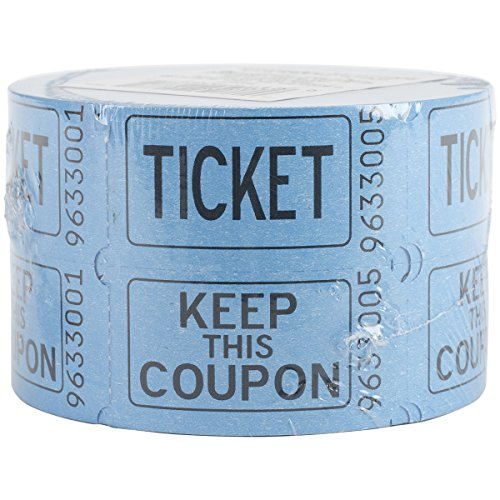 Party Ticket - Double Roll of Raffle Tickets, 500ct (Colors May Vary)