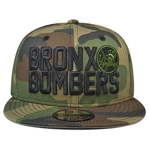 timeless design 14fdf ade71 Amazon.com   New Era Bronx Bombers York Yankees Snapback 9Fifty MLB Hat -  Woodland Camo   Clothing