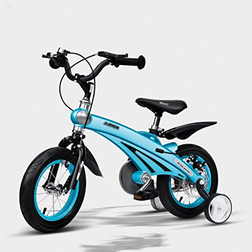 Bikes Baby Carriage Air Magnesium Alloy Children's Bicycle 2-6 Years Old Men and Women Baby Bikes 12,14,16 Inch Kids Tricycles (Color : Blue, Size : 14 inches)