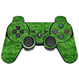 Green Grass Turf Field PS3 Dual Shock wireless controller Vinyl Decal Sticker Skin by Moonlight Printing