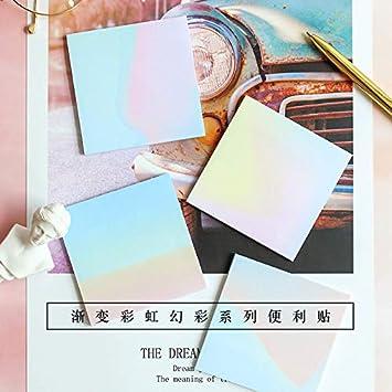 24 pzas Rainbow dream color nota adhesiva Bloc de notas ...