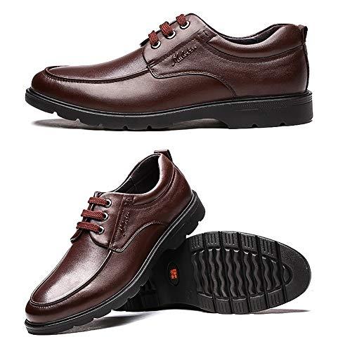Stringate Brown Scarpe Comode D'affari Uomo UK dimensioni Uomo 9 US 5 8 LXLA Brown Per Casual Pelle Colore Per 5 Scarpe Uomo xWz0YWq8wO