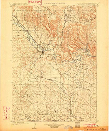 YellowMaps Edgemont SD topo map, 1:125000 Scale, 30 X 30 Minute, Historical, 1902, 19.8 x 16.5 in - Paper ()