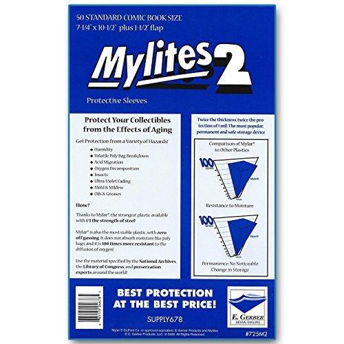 Comic Bags Mylar - Mylites 2 Mil Comic Book Standard Size 7 1/4