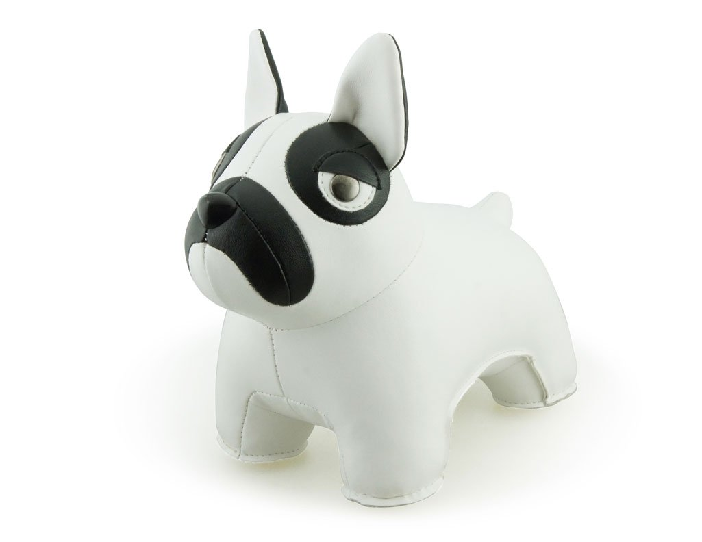 Zuny Classic Series French Bulldog White Animal Bookend