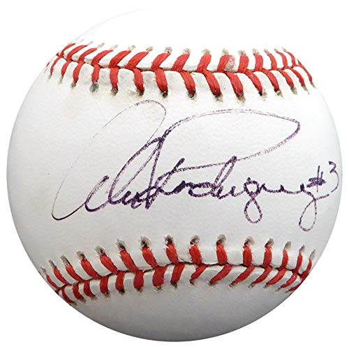 Alex Rodriguez Autographed Official AL Baseball New York Yankees, Seattle Mariners