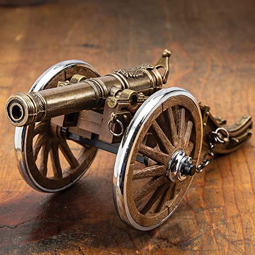 K EXCLUSIVE Louis XIV Desk Cannon Lighter, Hand-Painted Details, Exact Replica - Dimensions, 7 1/2