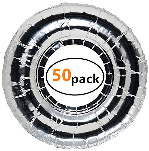 Disposable Foil Burner Liners for Gas Stove(50 Packs), Gas Range Protector Saving Your Time on Scrubbing Stoves and Keep Stove Clean