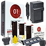 DOT-01 3X Brand Panasonic Lumix DC-GF10 Batteries and Charger for Panasonic Lumix DC-GF10 Mirrorless and Panasonic GF10 Battery and Charger Bundle for Panasonic BLH7 DMW-BLH7
