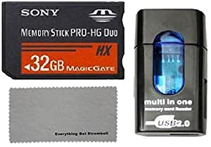 Sony 32 GB PRO-HG Duo HX Memory Stick with Memory Card Reader