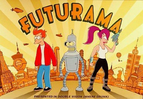 Futurama Fry Bender Leela Poster