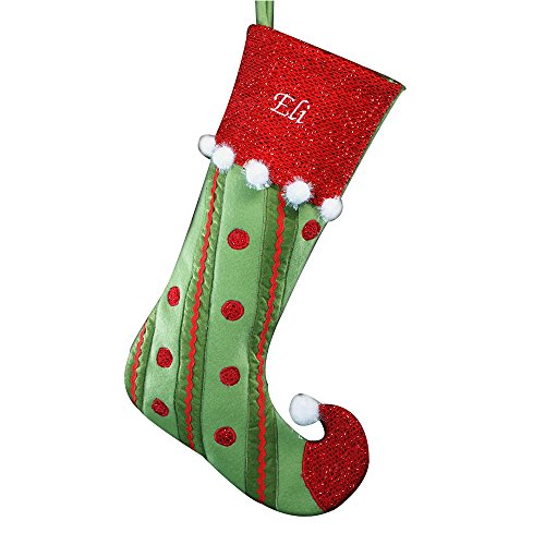 "(GiftsForYouNow Polka Dot Jester Personalized Christmas Stocking, 21"")"