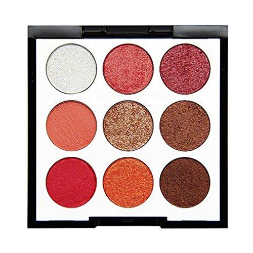 Mchoice Novo 9 Color Pearl Glitter Eye Shadow Powder Palette Matt Eyeshadow Cosmetic Makeupp - Enamel Pearls Painting