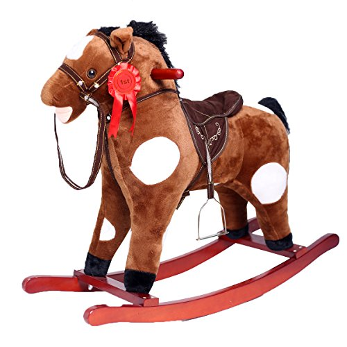 Rocking Toy Rocking Animal Horse Personalized Champion Horse Rocker Ride-on Toy with Realistic Sounds by HollyHOME
