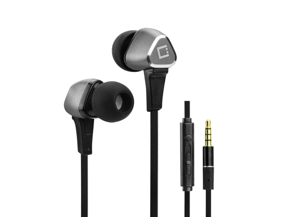 7dc98f025e3 Amazon.com: T-Mobile REVVL Plus Cellet Black/Grey Premium 3.5mm Hands-Free  Stereo in-Ear Headphones with Built-in Microphone and Multifunction Remote:  Cell ...