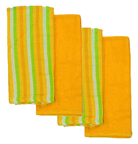 kitchen-bar-mop-towel-100-cotton-solid-color-striped-4-pack-hand-towels-mimosa