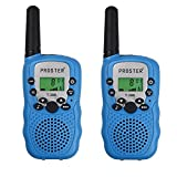 Proster Kids Walkie Talkies 22 Channels Handheld Two Way Radio with Flashlight for Children Christmas Gifts Outdoor Camping Hiking