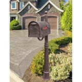 Hummingbird Curbside Mailbox with Ashland Mailbox Post Unit Color: Copper