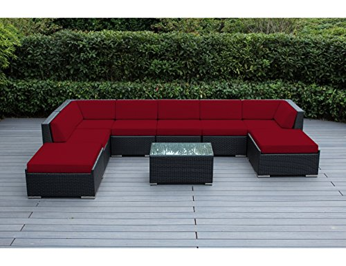 Ohana 9-Piece Outdoor Patio Furniture Sectional Conversation Set