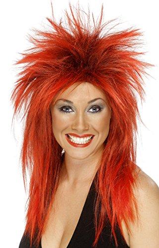 Smiffy's Women's Long Red Rocker Mullet, One size, Rock Diva Wig, 5020570422410 for $<!--$8.15-->