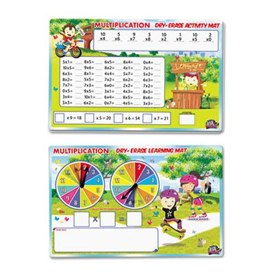 SpinnerZ Dry Erase Learning Mat, Multiplication by SmartDudesâ''¢ (Image #2)