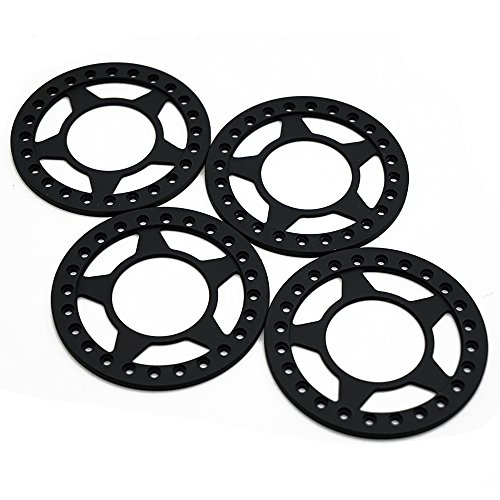 Beadlock Ring 2.2 (Aluminum Replacement Wheel Rim Beadlock Ring for 1/10 2.2 Inch Crawler Wheel Rim Matte Black Pack of 4 #B)