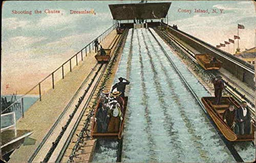 Dreamland Island Coney (Shooting the Chutes, Dreamland - Coney Island New York, New York Original Vintage Postcard)