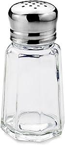 New Star Foodservice 22285 Paneled Salt and Pepper Shaker Mushroom Top, 1-Ounce, Set of 24