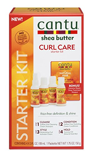 Price comparison product image Cantu 4 Piece Shea Butter for Natural Hair Curl Care Starter Kit, 3 Fluid Ounce