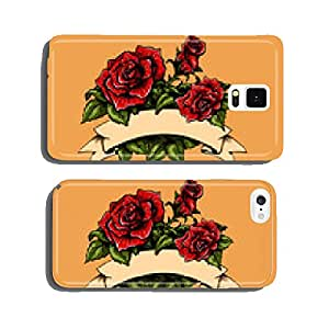 Tattoo Roses and Banner cell phone cover case iPhone5