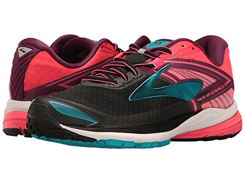 Brooks Women's Ravenna 8 Black/Diva Pink/Plum Caspia 8.5 B US
