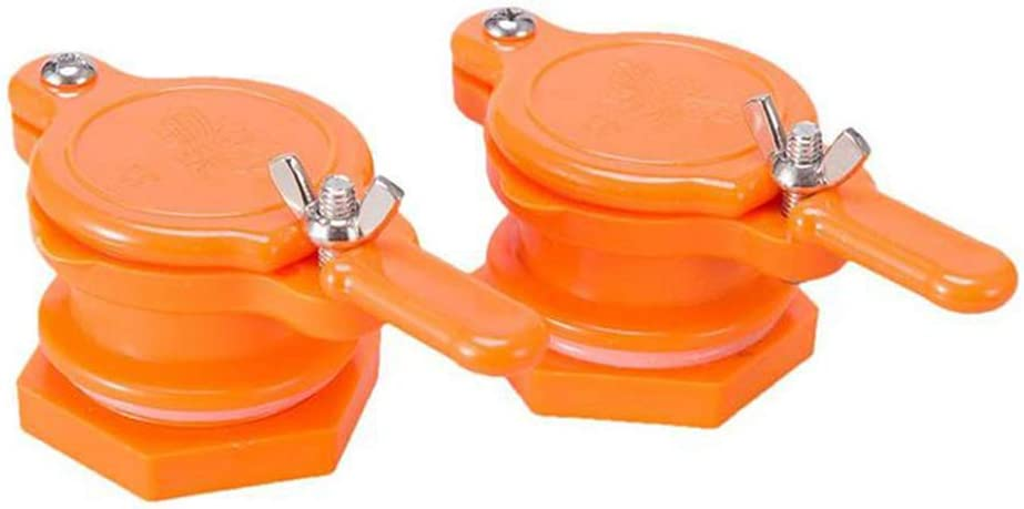 Cisture Honey Gate Valve for Bucket, Durable Nylon Honey Extractor Tap, Beekeeping Supplies (2 Pack)