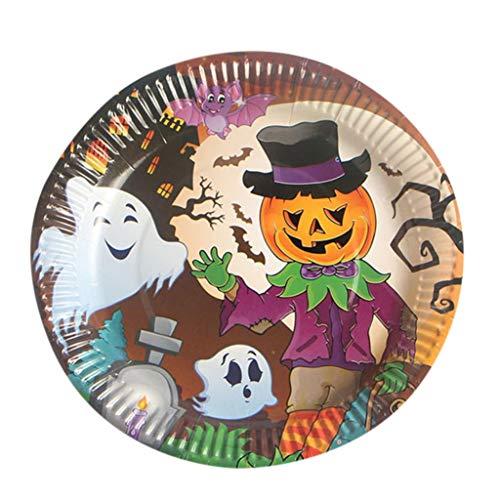 FreshZone Halloween Disposable Plates - 10Pcs Paper Plates