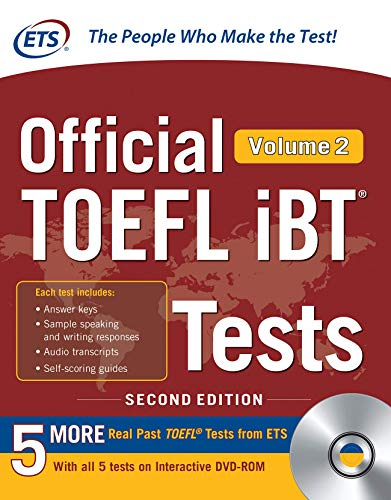 - Official TOEFL iBT Tests Volume 2, Second Edition
