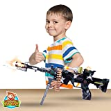 22'' Rapid Fire Machine Gun By CifToys: Realistic Toy Rifle Replica With Lights And Sounds For Army, Spy, Soldier, Assassin Game Play And Halloween Costumes (Trademark Protected)