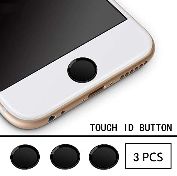 separation shoes 9c0ff ae600 Ultra Slim Fingerprint Support Touch ID Metal Home Button Sticker (3Pack)