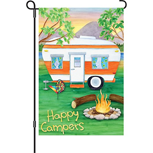 Premier 51093 Garden Premier Soft Flag, Happy Campers, 12 by 18-Inch
