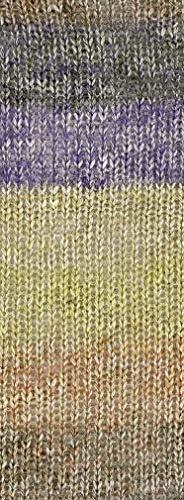 Blue-Brown golo Wool Yarn for Knitting 550yd 0.22Ib Cachemire Multicolor Rainbow Yarn