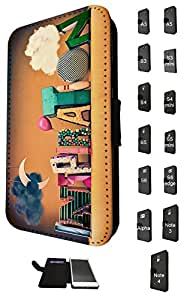 1140 - Cute fun cool word quote inspiration motivation moon sky balloon colourful Design Samsung Galaxy S6 Fashion Trend TPU Leather Flip Case Full Case Flip Credit Card TPU Leather Purse Pouch Defender Stand Cover