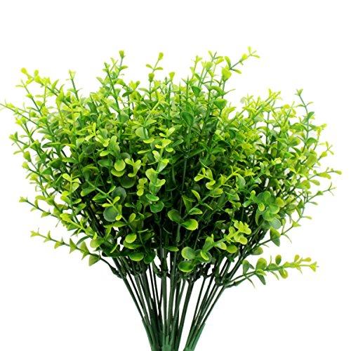 gpark 5piezas arbustos artificiales Plantas, hojas de eucalipto, Vivid arbustos vegetación de simulación para el...