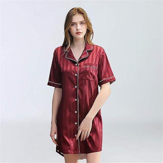 ZSDGY Sexy camisón/Falda de Manga Corta de Chaqueta de Punto ...