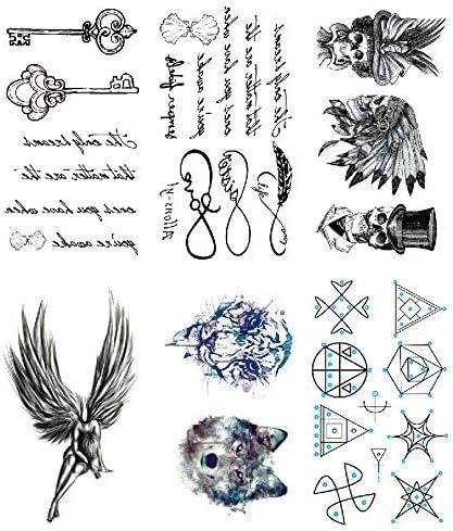 Oottati 6 Hojas Pequeño Lindo Tatuaje Temporal Tattoo Poesía Clave ...