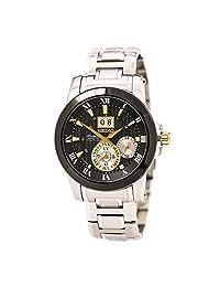 Seiko SNP129 Men's Premier Black Dial Stainless Steel Bracelet Power Reserve Kinetic Watch