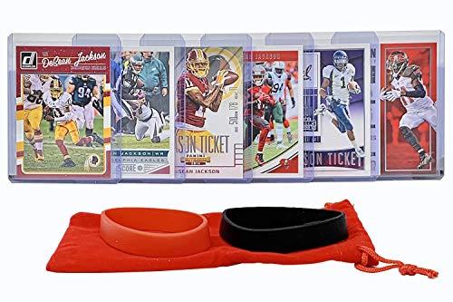 DeSean Jackson Football Cards (6) Assorted Bundle - Tampa Bay Buccaneers Trading Card Gift Set