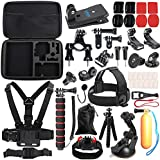 SUREWO Outdoor Sports Accessories Kit Compatible with Gopro Hero 7/(2018) 6/5/4 Black Hero 5/4 Session 4 Silver 3+ SJ4000/5000/6000 Xiaomi Yi and Sony Sports Dv and More(33 Items)