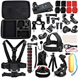 SUREWO Outdoor Sports Accessories Kit Compatible with Gopro Hero 7 (2018) 6 5 4 Black Hero 5 4 Session 4 Silver 3+ SJ4000 5000 6000 Xiaomi Yi and Sony Sports Dv and More(33 Items)