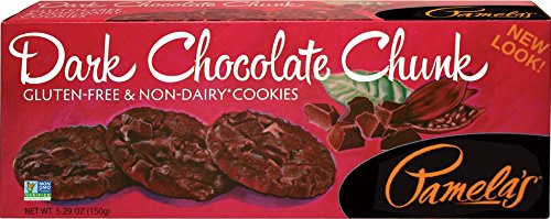 Gluten Emulsifier Free (Pamela's Products Gluten Free Organic Cookies, Dark Chocolate, 5.29-Ounce Boxes (Pack of 6))