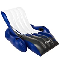 Intex Floating Recliner Inflatable Lounge, 71 X 53-Inch (Colors May Vary)