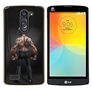 Dragon Case - FOR LG L Bello L Prime D337 - forearms funny bodybuilding man muscle - Caja protectora de pl??stico duro de la cubierta Dise?¡Ào Slim Fit