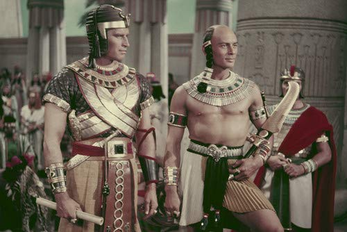 """Image result for Charlton Heston and Yul Brynner in """"The Ten Commandments"""